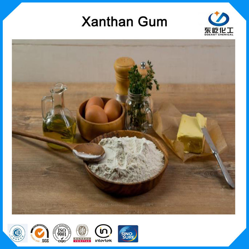 80 Mesh Water Soluble Xanthan Gum Food Grade Polysaccharide High Viscosity Efficient Thickener